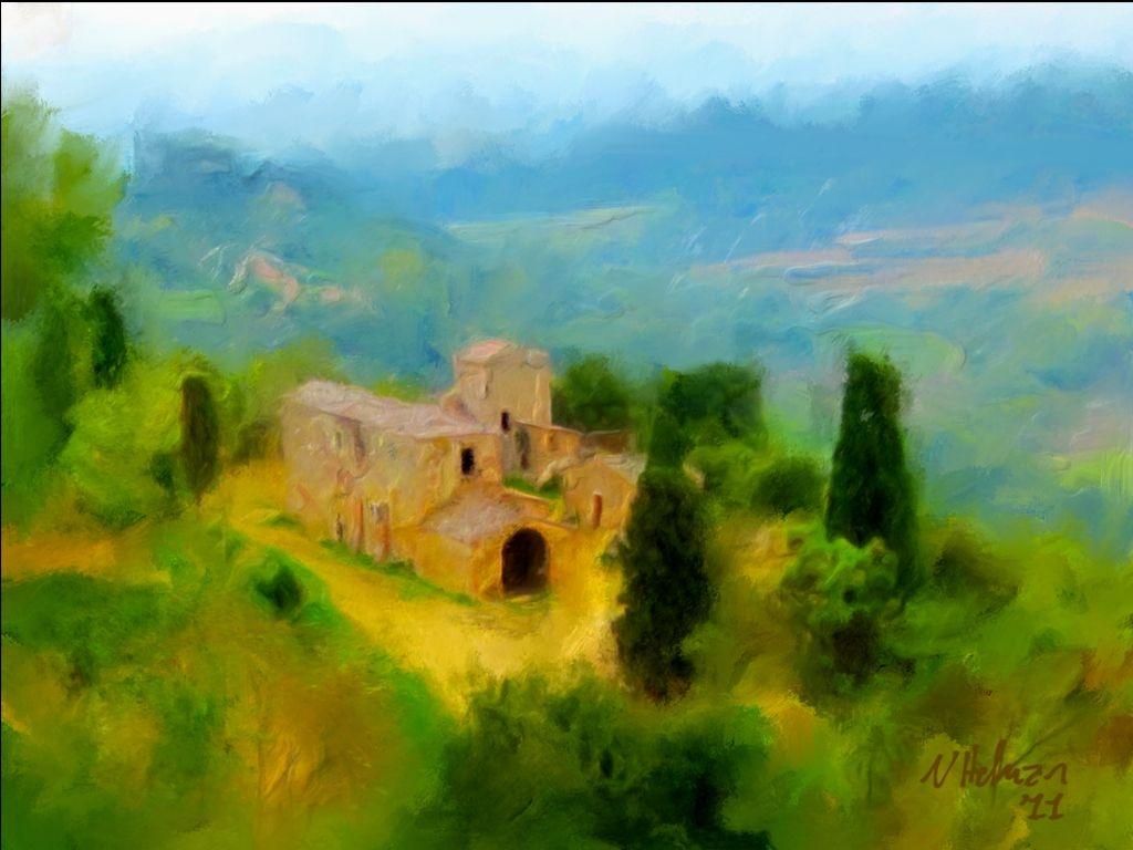 Italian hillside villa
