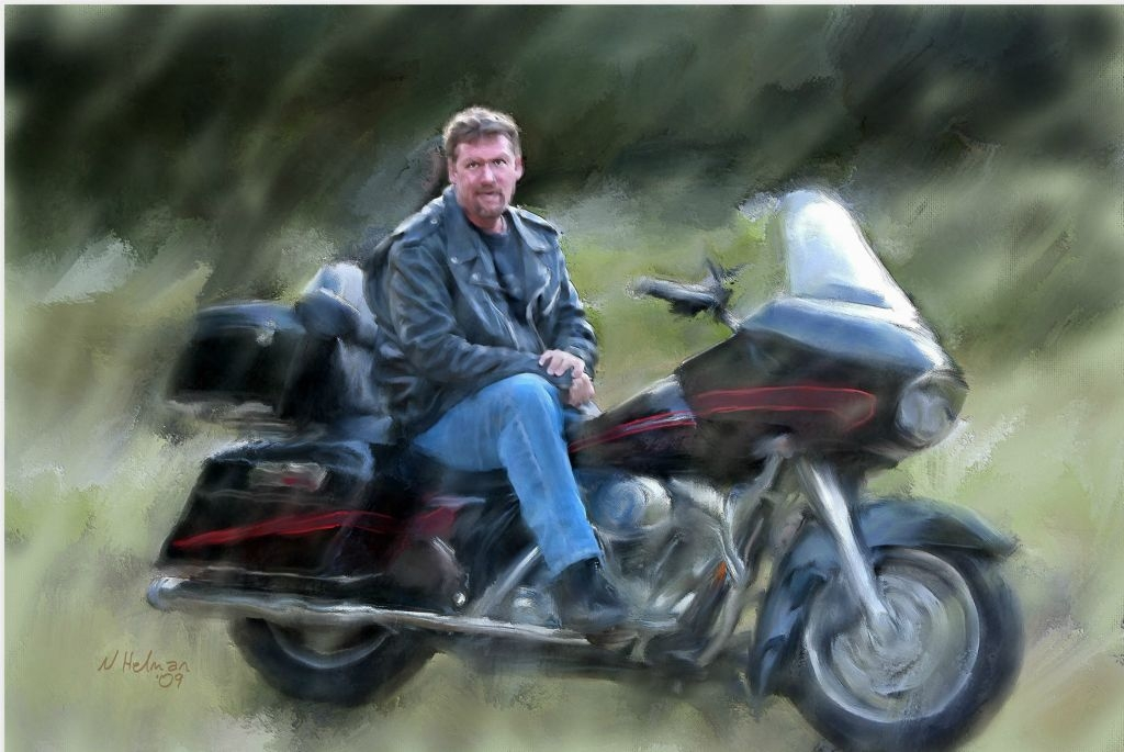 Andy Kimber  and His Harley